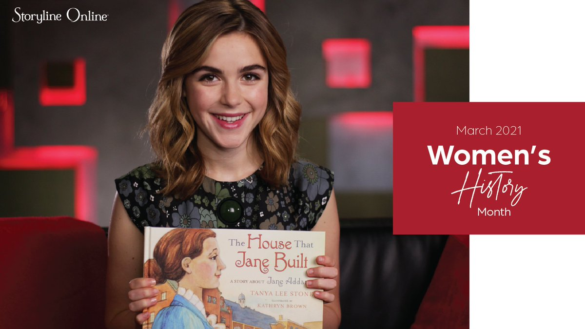 It's #WomensHistoryMonth! Discover the story about one of the most inspiring women in history, social reformer and activist Jane Addams, by watching @kiernanshipka read THE HOUSE THAT JANE BUILT. Watch here: