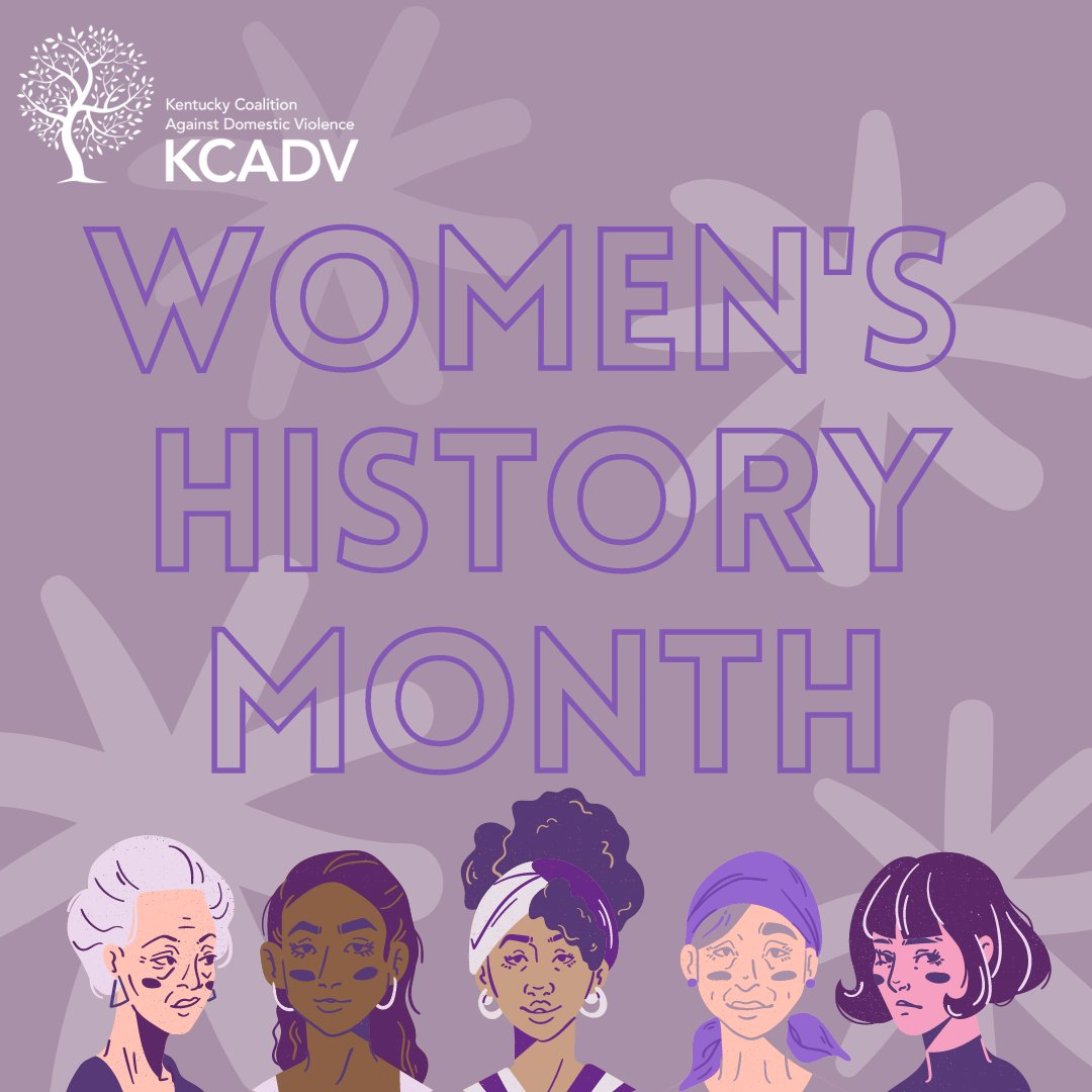 Happy #WomensHistoryMonth Throughout the month of March, KCADV is celebrating incredible women and the history they make everyday. Be sure to follow us as we commemorate these feats all month long!