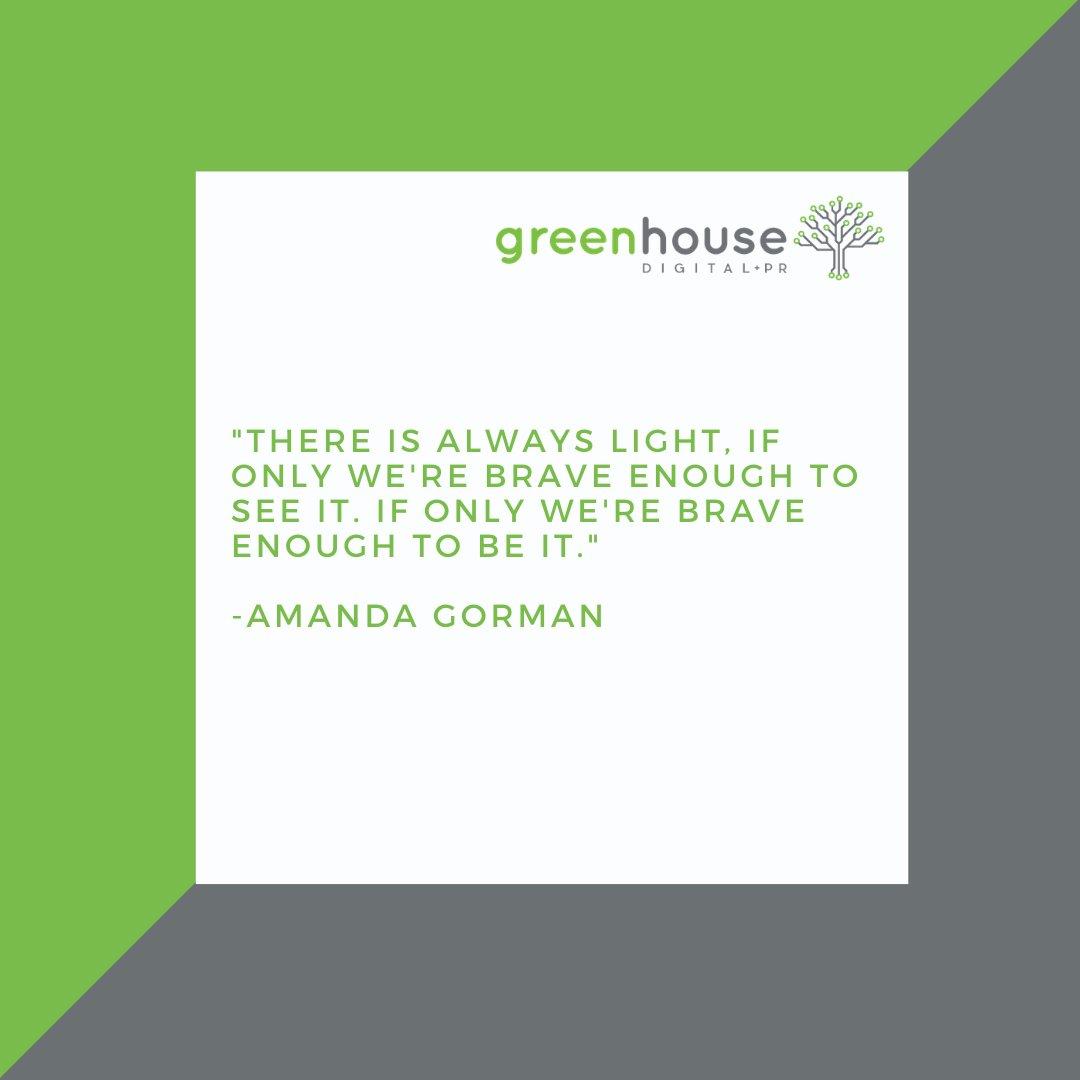 #Motivational quote to start your week 😊#amandagorman