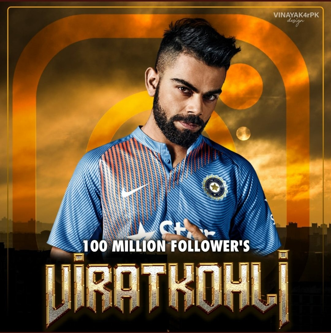 Congrats💐💐 @imVkohli on having #100MillionViratiansOnInsta .. You are the☝️ first cricketer🏏 who joined the 100 million club..❤️❤️❤️ #ViratKohli  #TeamIndia  #100MillionViratiansOnInsta