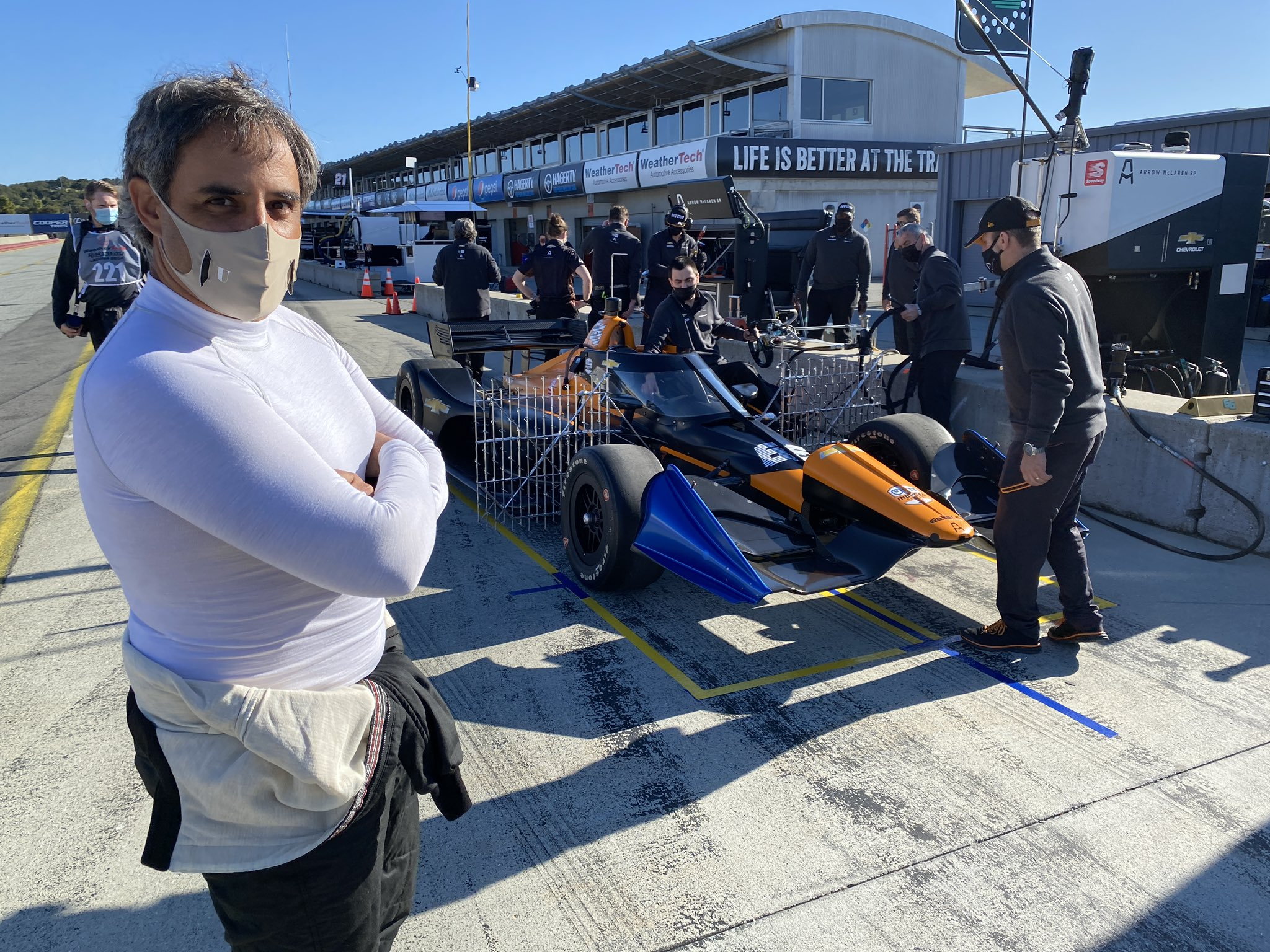 Montoya tests at Laguna Seca with Arrow McLaren SP