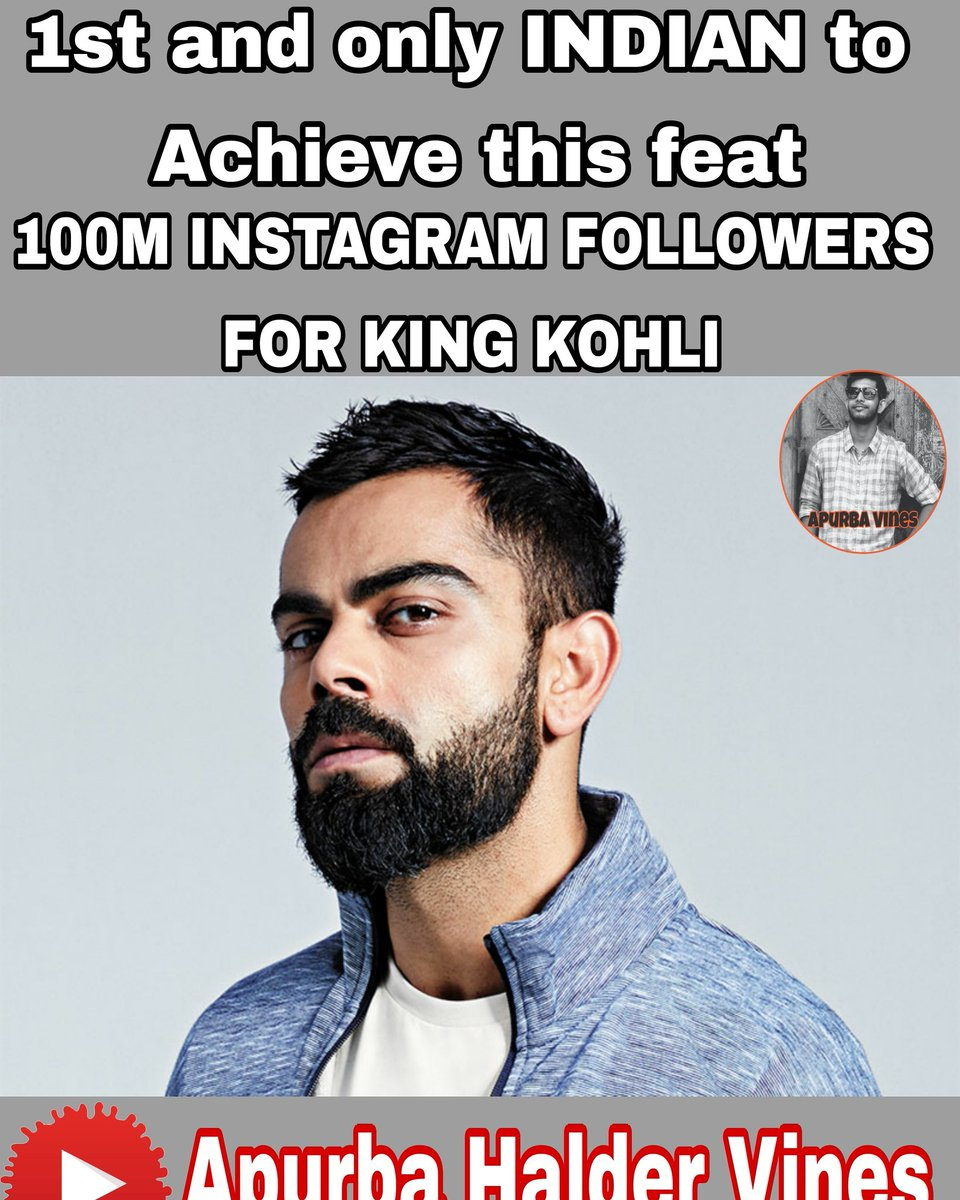 100m ig followers for @imVkohli  Congrats King ❤️🇮🇳 #100MillionViratiansOnInsta #ViratKohli #TeamIndia #1000stars