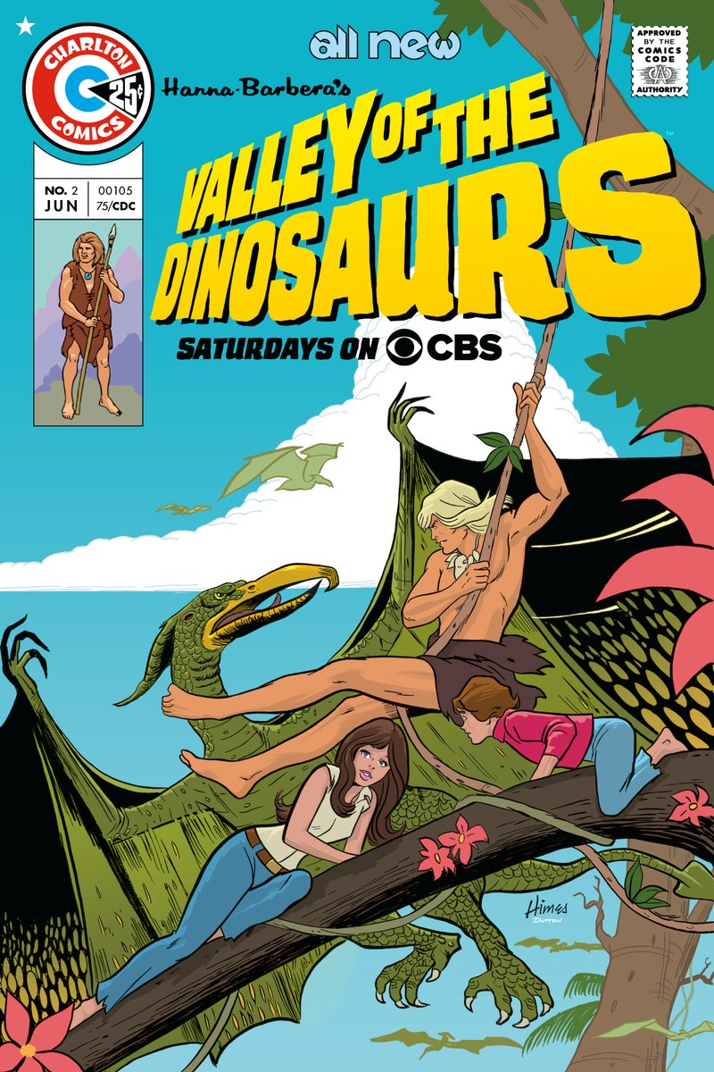 Hanna-Barbera's Valley of the Dinosaurs. Charlton had the licence to produce the comics. Art by Fred Himes. New colour and packaging by Scott Dutton.  #hannabarbera #comics #animation #cartoons #SaturdayMorning