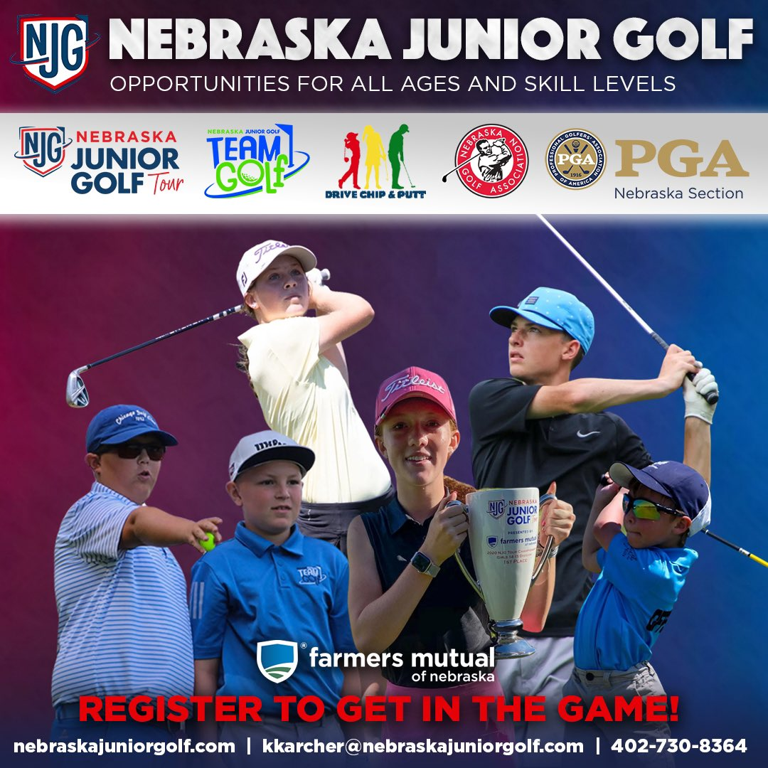 Hoping to compete in the 2021 Nebraska Junior PGA Champ? 👀  Become a NJG member first! 😁