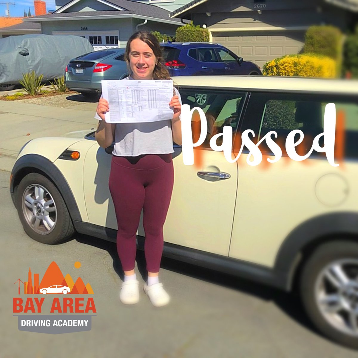 Congratulations to Sara on getting her California driver license recently!! #passed and ready for the #road 🏁 🚗 - woohoo 🎉! Get DMV ready and licensed with Bay Area Driving Academy! #badainc #driving #siliconvalley #bayarea #smallbusiness #motivation #mondaymotivation