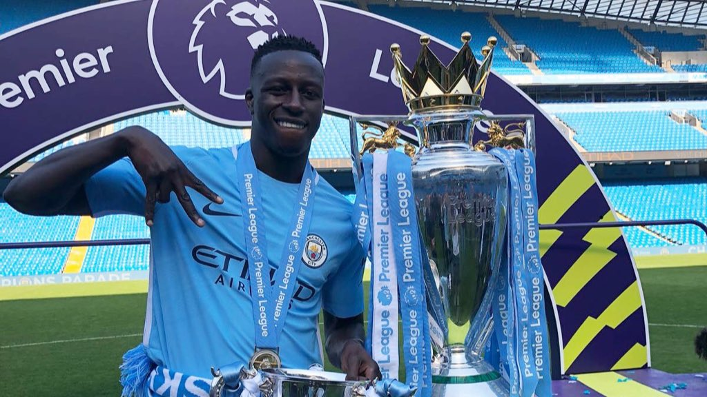 A reminder that Ben Mendy cost #ManCity €50m and has almost played games because of Injurys, Night clubs, Partys, and more.  While being at Mancity:  Won a #worldcup2018🏆 won 2x #PL🏆, won 3x #CarabaoCup🏆, won a #Facup, won 2x #CommunityShield🛡