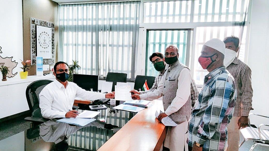 #LandForLandless Memorandum to Pune Collector by Pune District President and Secretary demanding Land for Landless.