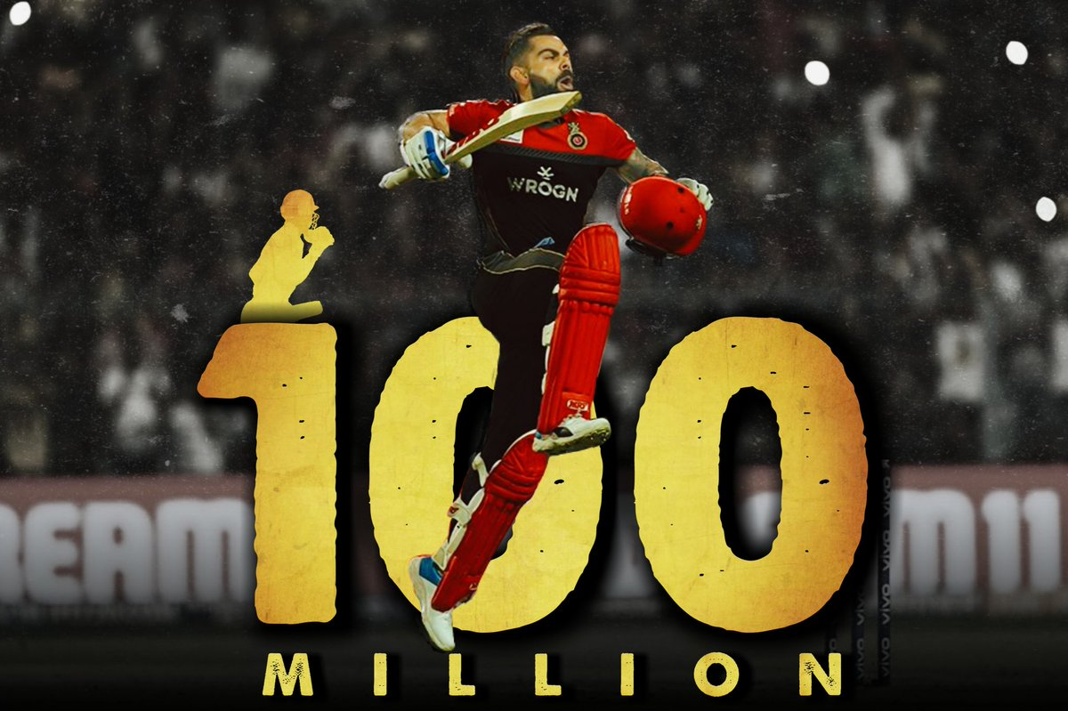 #100MillionViratiansOnInsta World's First cricketer to hit 100m on insta.  Congratulations @imVkohli   #ViratKohli #TeamIndia #100MVIRATIANS #instagram #Twitter #PMModi #SidNaaz #ShehnaazGill #Ashwin #RohitSharma