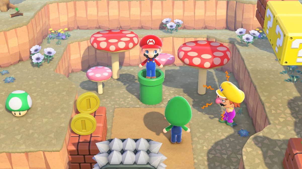 """[Announcement] Starting today, you can order Super Mario Bros. items from Nook Shopping! Try ordering 2 or more of the """"Pipe"""" if you'd like to warp around your island. These items are not time limited and can be ordered at any time. #SuperMario35 #AnimalCrossing"""