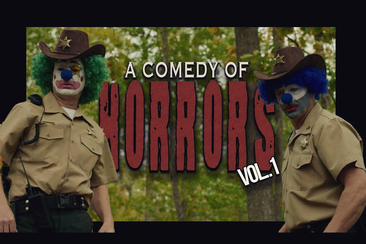 Things are becoming a little unsettling in #ClownTown but no worries Sheriff Skittles and Deputy Dimples are on the case🕵️‍♂️🤡 #acomedyofhorrorsmovie   #acoh #indiefilm #acomedyofhorrors #supportindiefilm #horrorcomedy #anthology #clowns #murder #sheriffskittles #deputydimples