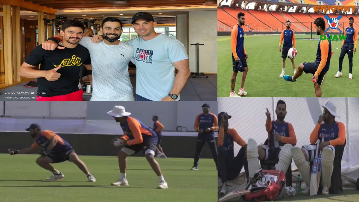 #TeamIndia Gear Up For 4th #TestMatch Against #England In #Motera #INDvsENG #TeamIndiaPractice.  Video:   #PracticeSession #ViratKohli #RohithSharma #NarendraModiStadium #MayankAggarwal #IshantShamra #KLRahul #Siraj #UmeshYadav #aksharpatel  #IND #Cricket