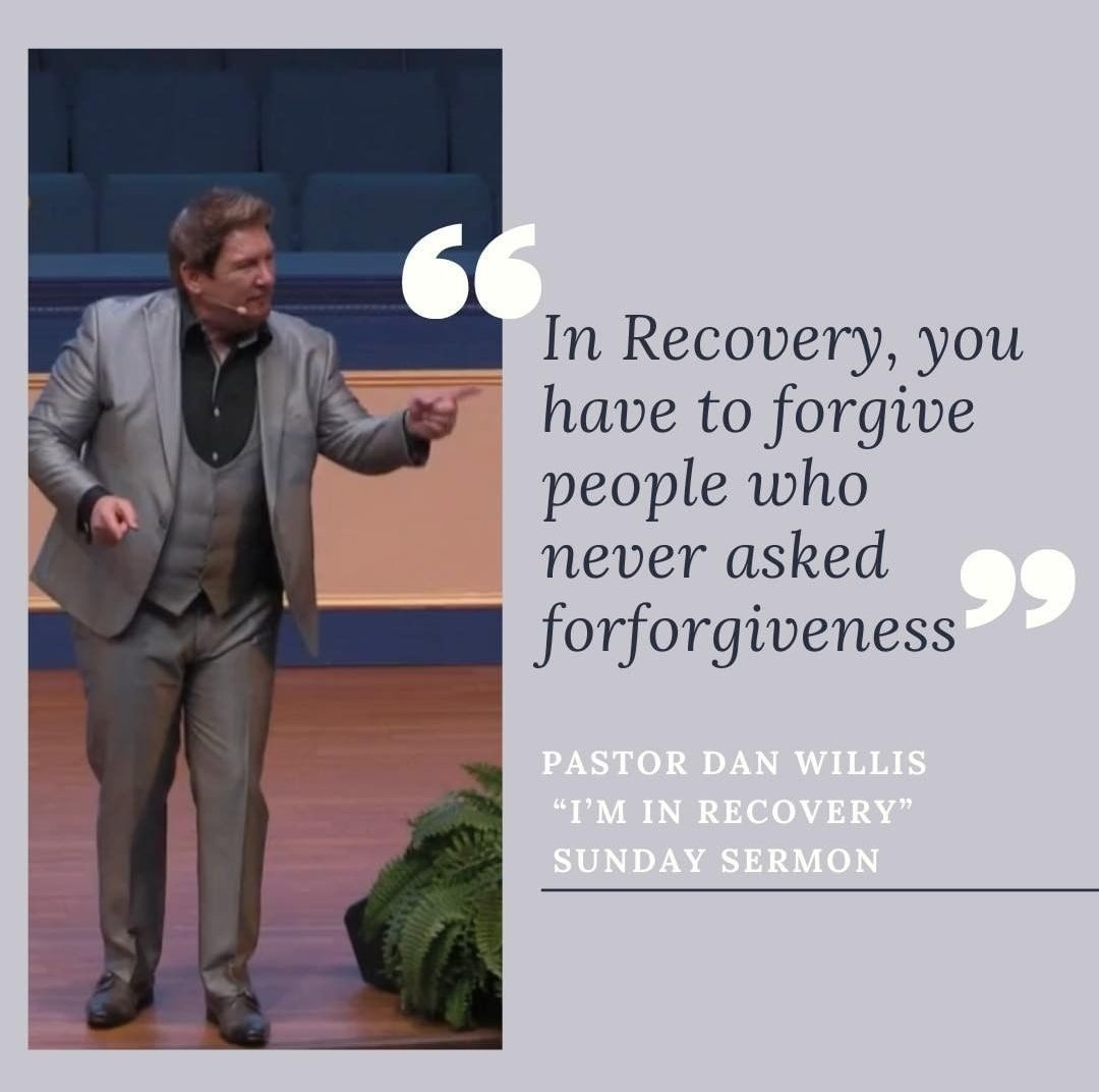 "In recovery, you have to #forgive people who never asked for #forgiveness. - @PastorDanWillis - Watch the Sun. Sermon rebroadcast of, ""I'm In Recovery"":  . . . . . . . . . . . . #lhcchicago #PastorDanWillis #SundayMorning #SundayService #iminrecovery"