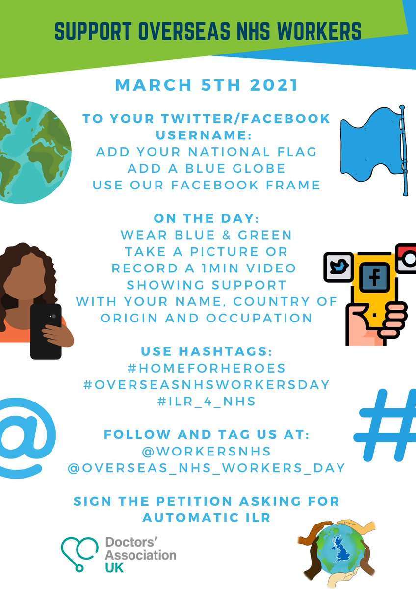 DAUK are hosting the first ever Overseas NHS Workers Day @WorkersNhs Join us on Friday 5th March 2021 in celebrating our colleagues & remembering those that have passed. Click on the link below: dauk.org/news/2021/02/2… #OverseasNHSWorkersDay #HomeForHeroes