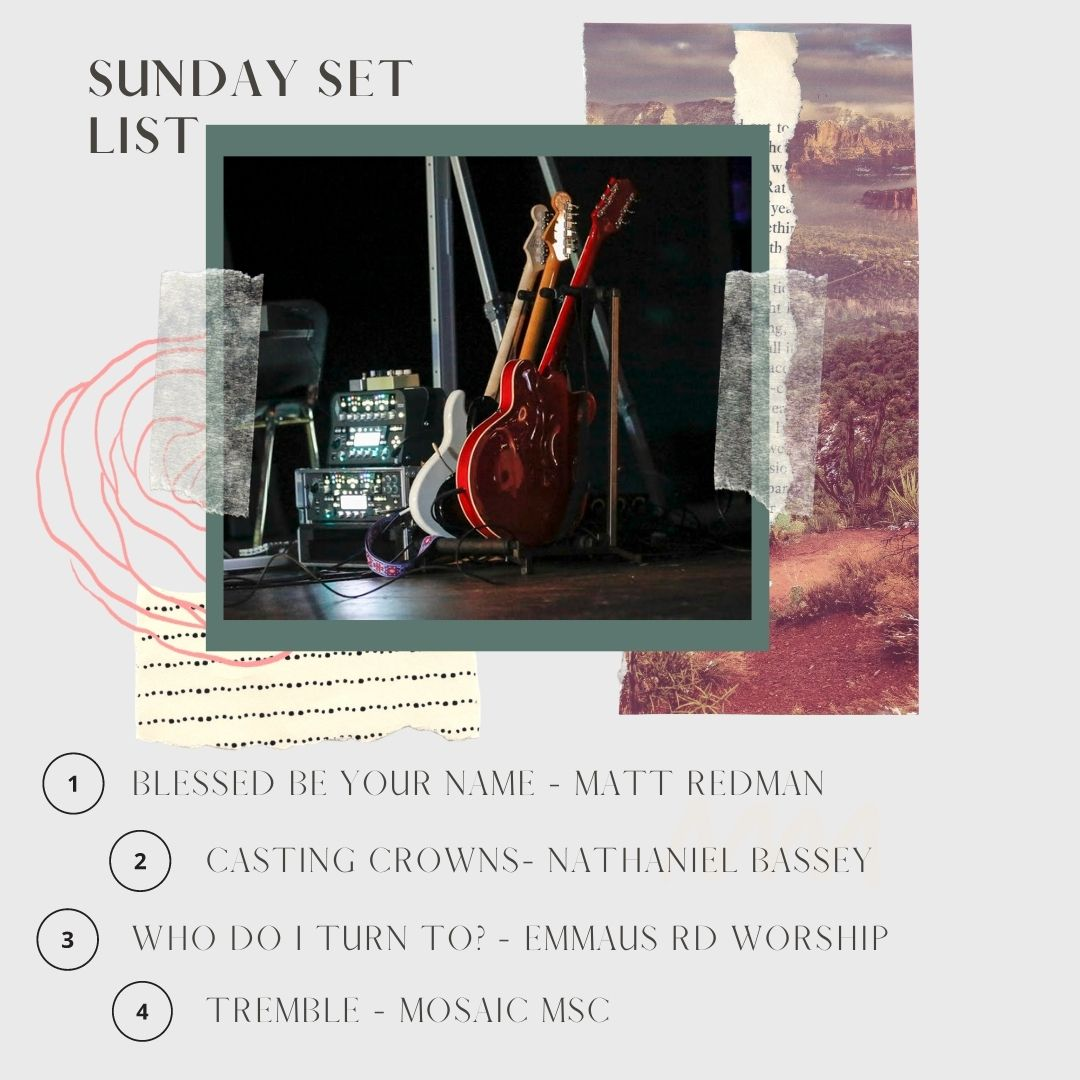 Each week we'll be sharing our #SundaySetList with you so that you can listen again or add them to your worship playlists to listen to during the week!  #worship #setlist #sundayservice #emmrdonline #emmrdworship
