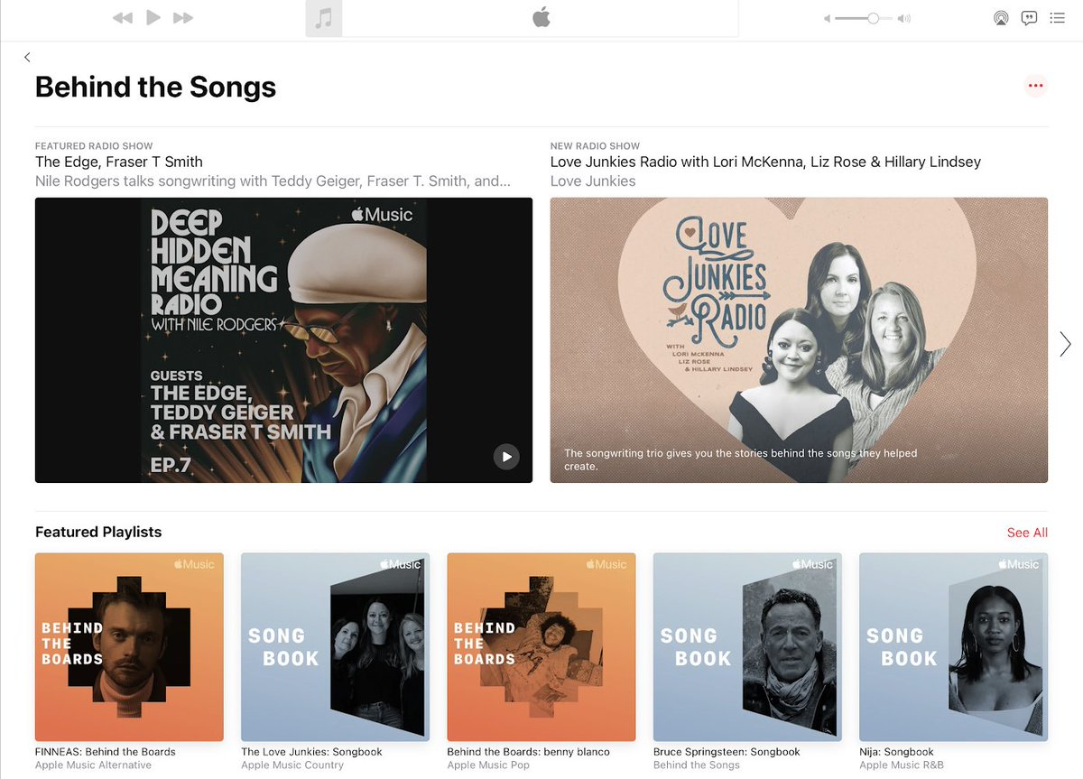 Hey everyone! I'm really excited to introduce a new home celebrating songwriters, producers, session musicians & their work on @AppleMusic.  Check out #DeepHiddenMeaning and more, bringing you closer to the amazing creators behind your favorite music: