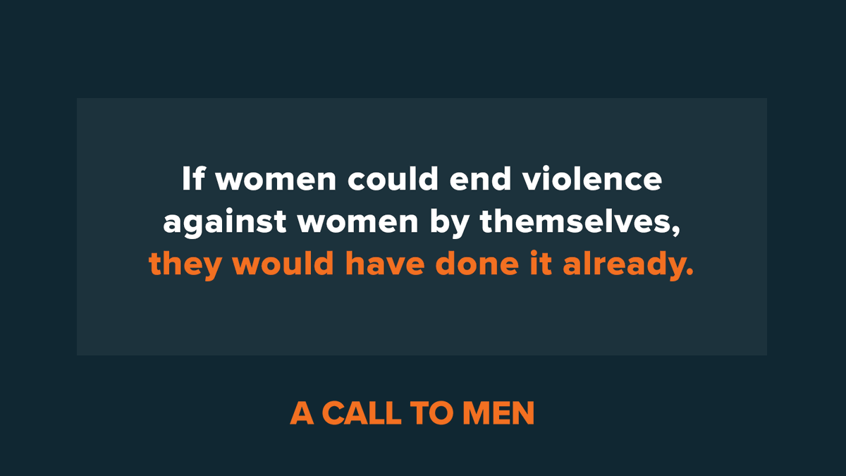 The majority of men don't perpetuate violence against women, the problem is we are silent about the violence.  Develop a voice. Stand up and speak out. We can do better. @acalltomen https://t.co/yi6FLkYYdI