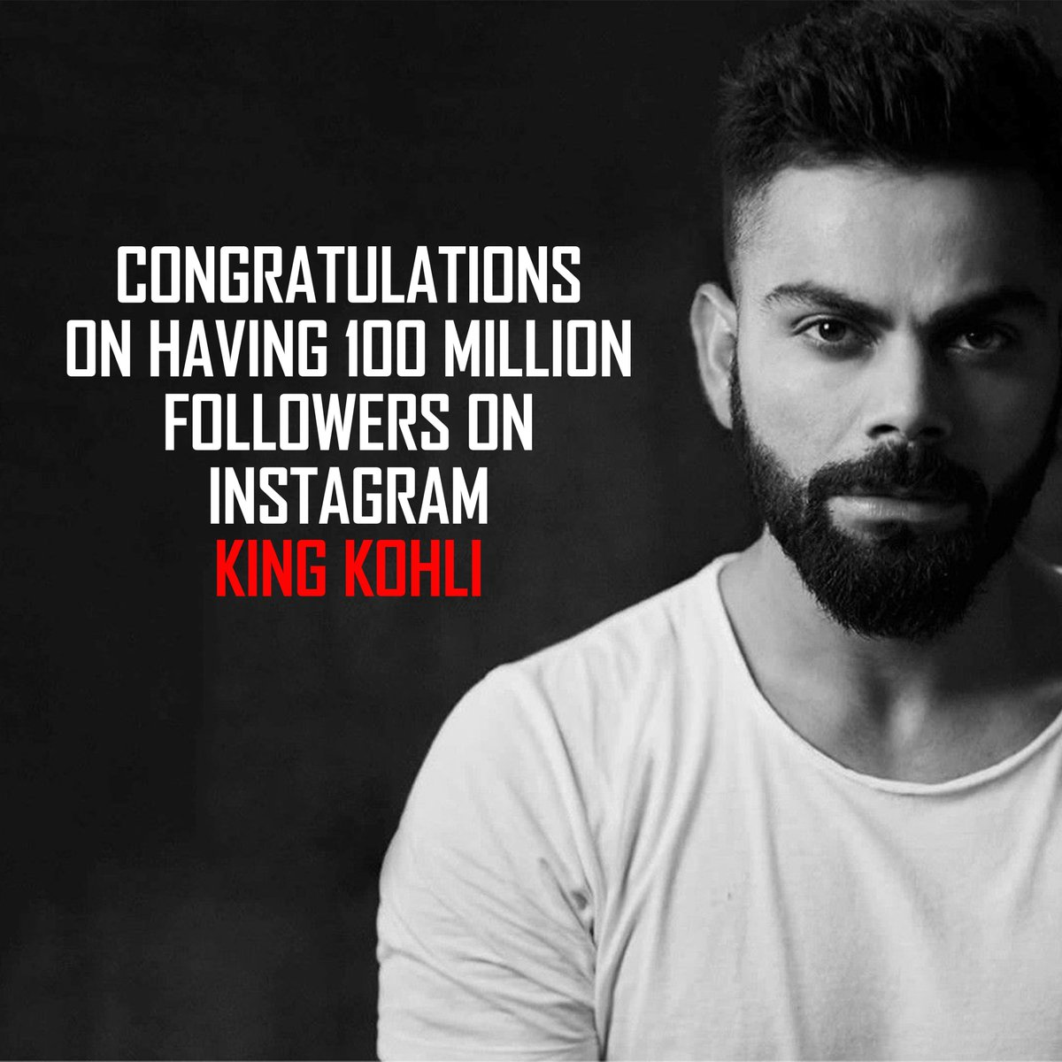 Kohli became the first Asian to touch 100 million followers on Instagram. Congratulations @imVkohli  #100MillionViratiansOnInsta #viratkohli #KingKohli #virushka #teamindia #SidharthShukla #BCCI @JayShah #Congratulations #EngvsInd
