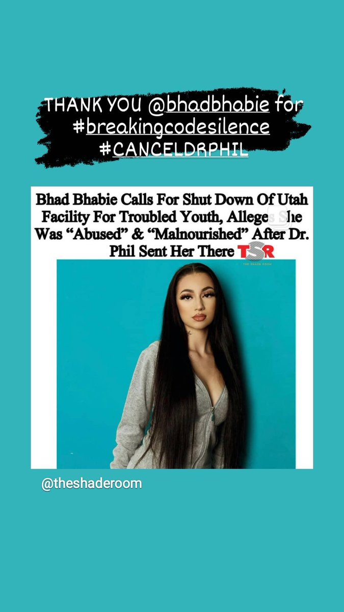 """@BhadBhabie out here #breakingcodesilence @BreakingCodeSi1 - So proud of her! No child, no matter what """"problems"""" or preexisting traumas they have, deserves to be treated this way! Period."""