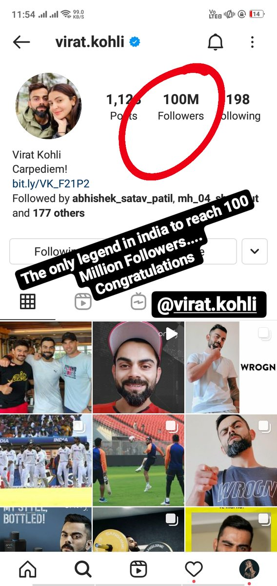 🇮🇳 The only legend in india to reach 100 Million Followers.... Congratulations @imVkohli #100MillionViratiansOnInsta #ViratKohli #TeamIndia #Instagram #100MillionViratiansOnInsta