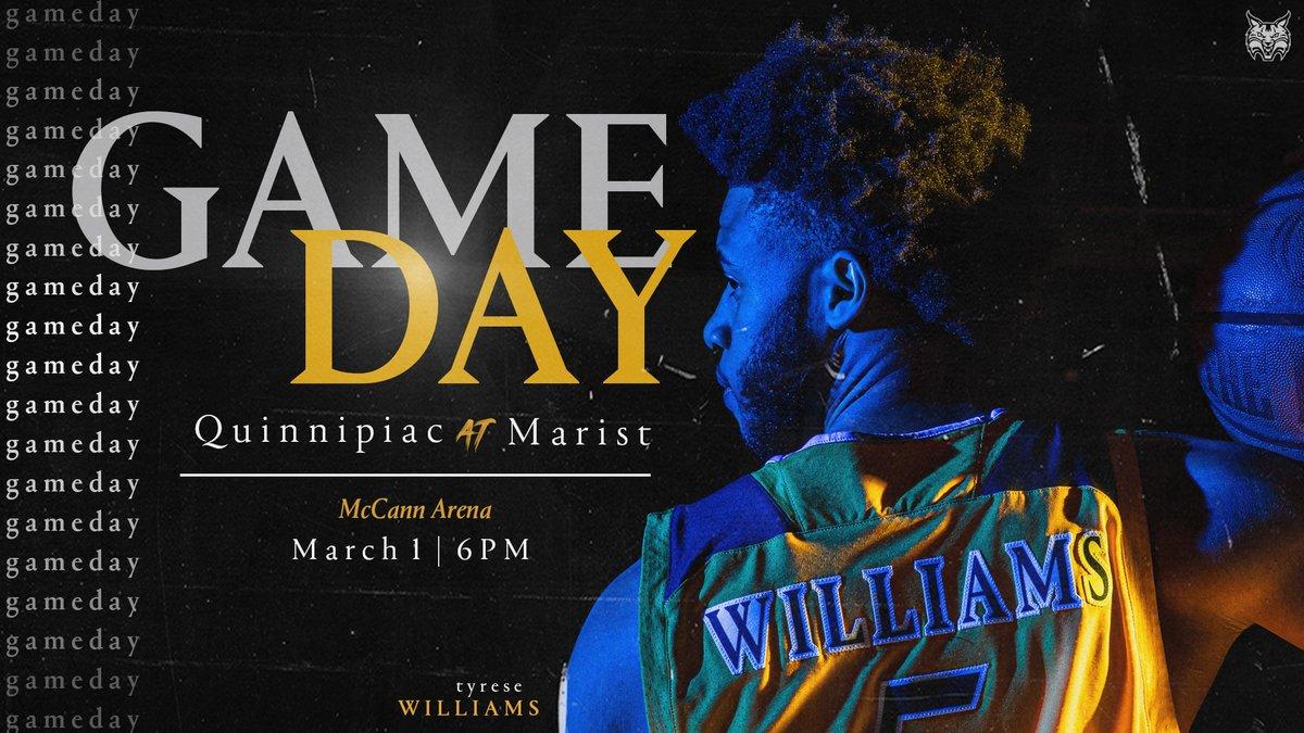 𝗚𝗔𝗠𝗘 𝗗𝗔𝗬! 6:00 PM contest tonight on the road! 🆚 @MaristMBB 🏟 McCann Arena 📍 Poughkeepsie, NY 🖥 ESPN3