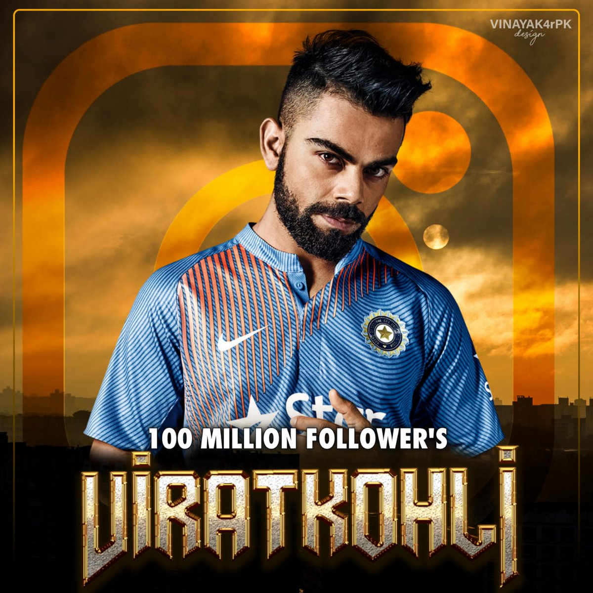 The only legend in india to reach 100 Million Followers.... Congratulations @imVkohli #100MillionViratiansOnInsta #ViratKohli #TeamIndia #100MillionViratiansOnInsta