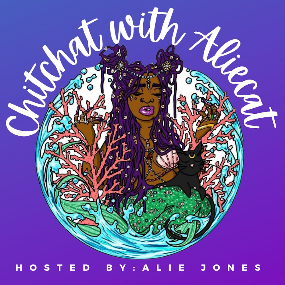 ✨NEW LOGO✨  I am so excited to announce this new @chitchataliecat logo illustrated by cozcon on IG. I have been a HUGE fan of their art for a minute now and this project was literally a dream. #ChitchatWithAliecat  #Podcast #WOCpodcast #DopeBlackPods #BayArea