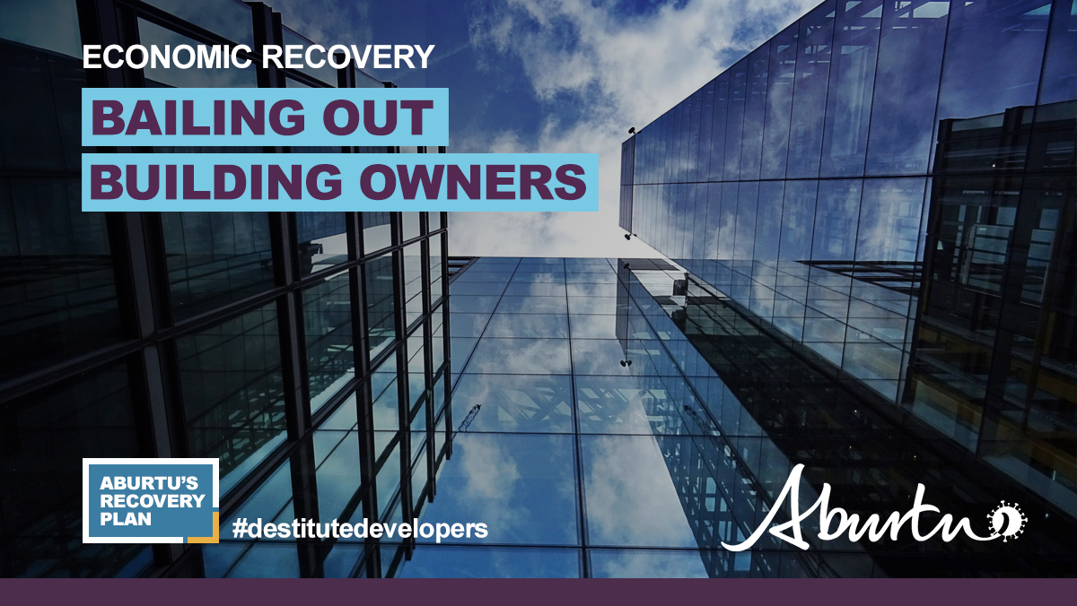 In keeping with our tradition of supporting the wealthy, we are looking at how we can aid developers who built an oversupply of office buildings on speculation. Please note: this help will only be extended to the city that elected us, not that other one. #ableg #onyourown
