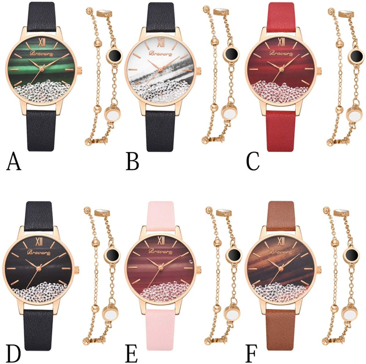 70 percent 0ff with c0de:  ZTONI89R - SILVER OR GOLD CHOICES  Watch Bracelet Set, Business Casual Watch Womens Wristwatch Bangle Jewelry Set for Girls Ladies Fashion Watches Bracelet Kit #ad