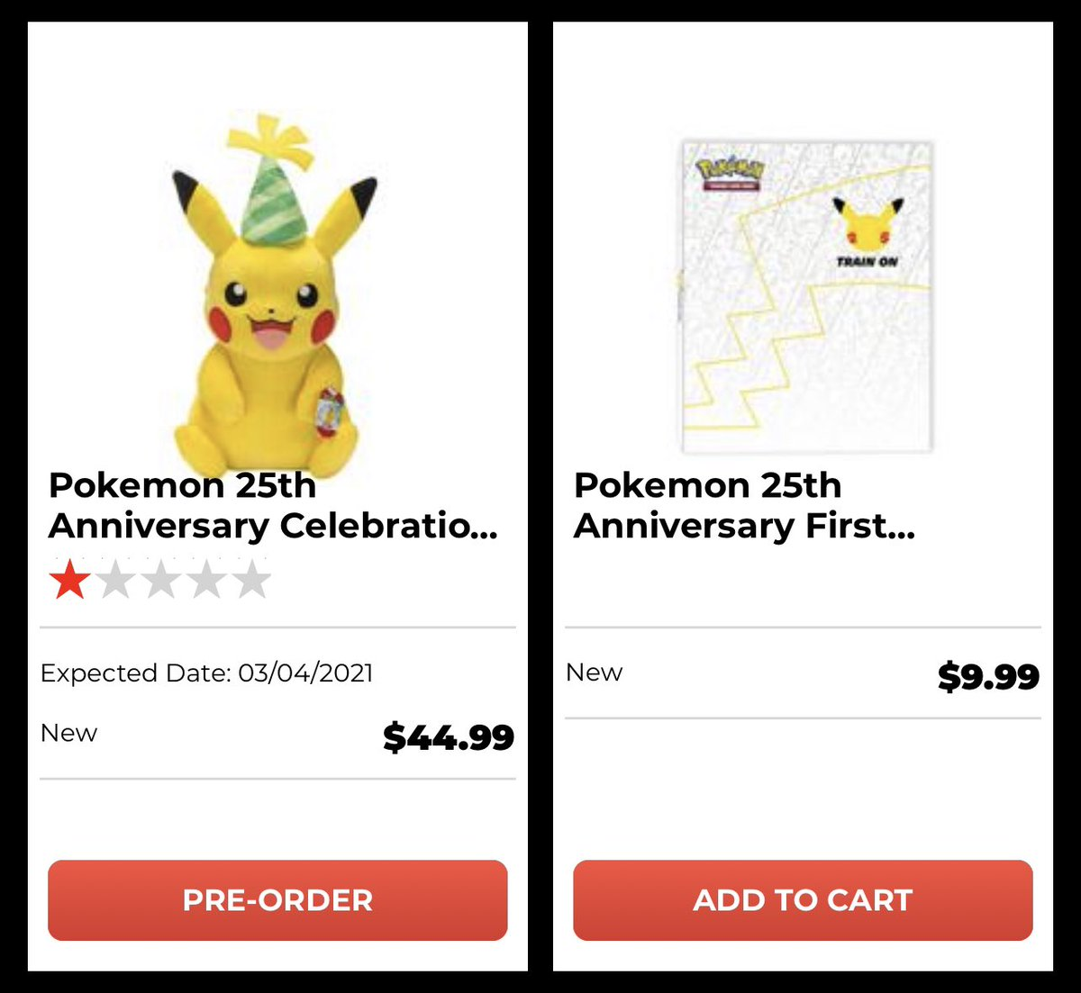 ICYMI: Pokemon 25th Anniversary merch is up at GameStop. The plush is an exclusive and the binder includes an oversized Pikachu card #Ad #Pokemon #Pikachu