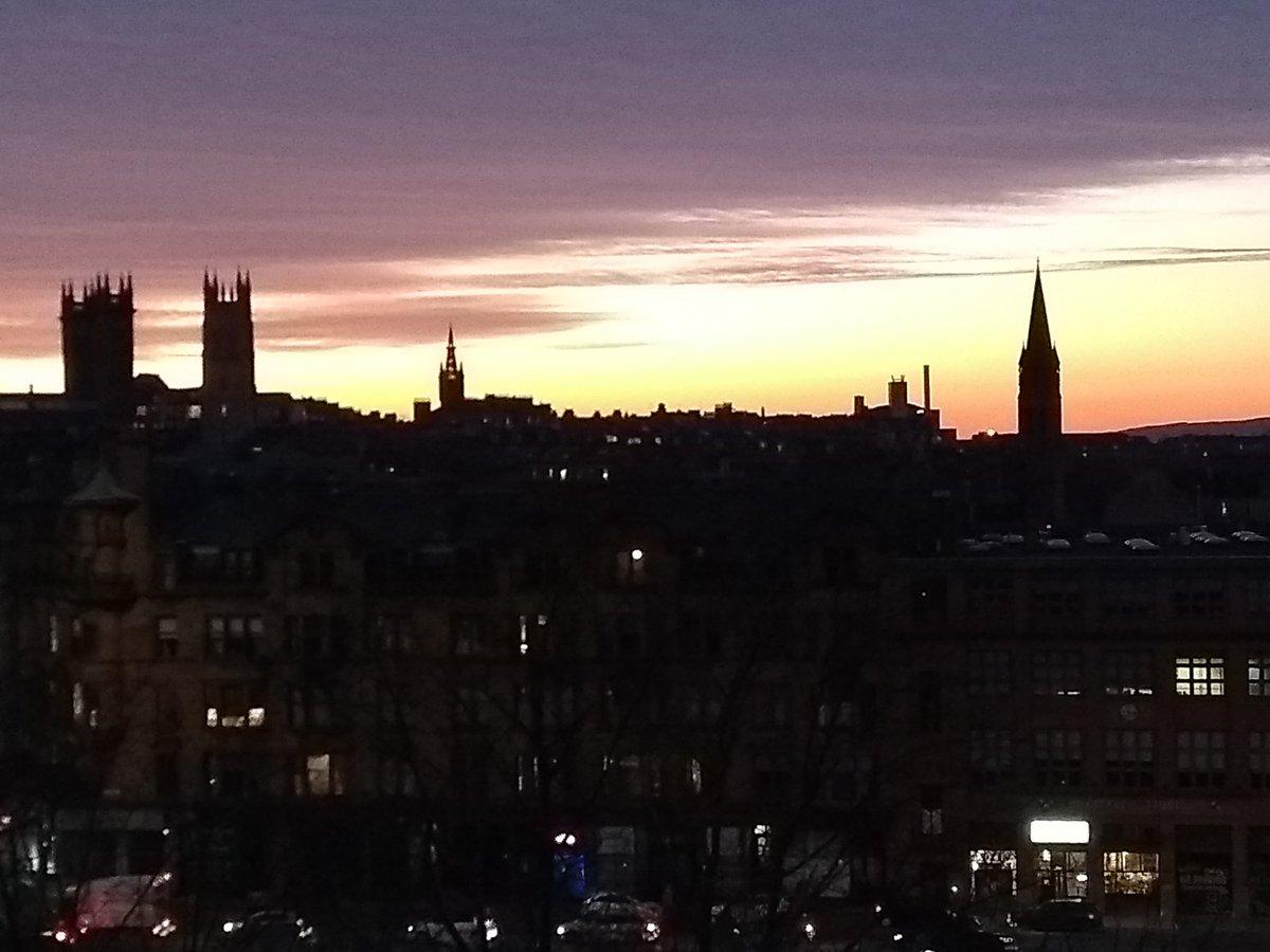 Glasgow skyline tonight #nofilter #Glasgow