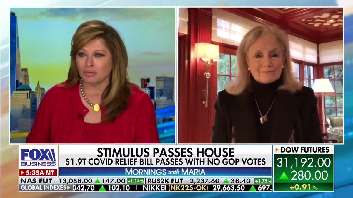 Watch @MariaBartiromo discuss Covid relief with @RepDebDingell.  You don't want to miss this.
