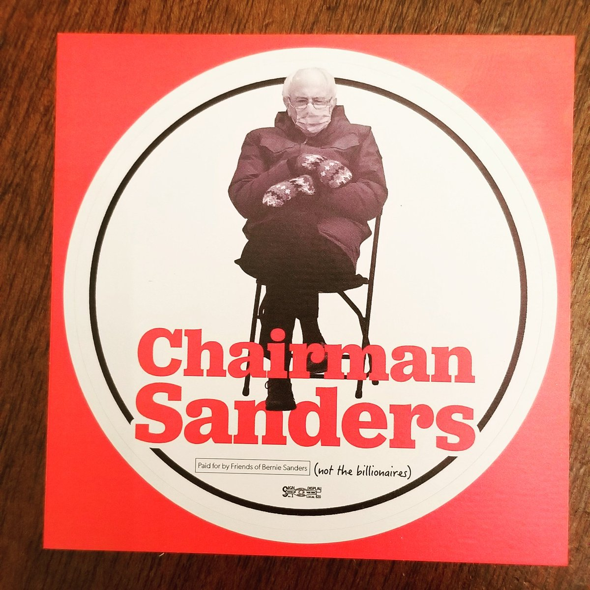 My sticker arrived!!❤❤ #chairmansanders #BernieSandersMittens