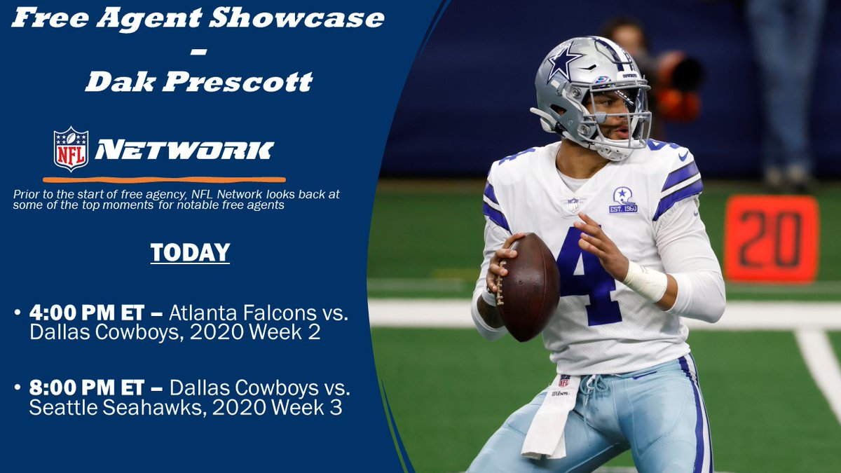 Prior to the start of free agency, @nflnetwork looks back at some of the top moments for notable free agents  TODAY -- Dak Prescott