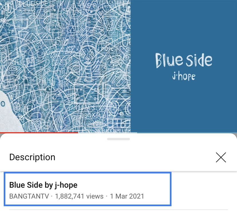 blue side by #jhope is about to reach 2 million views! please make sure you're also streaming on youtube! 🎉 it's at 1.8 Million right now! it's cloooose!   #thankyoujhope #3YearsWithHopeWorld
