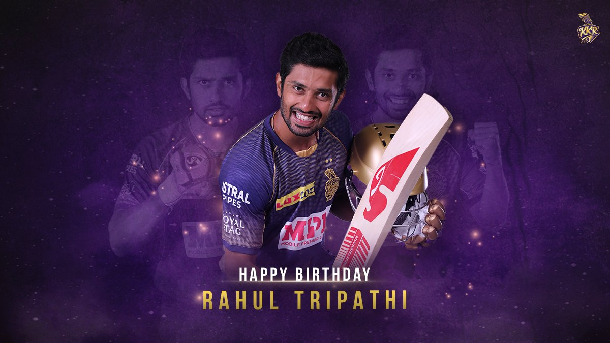 Game-changer. Level headed. Sound technician. 💪  The one and only @ImRTripathi levels 🆙 today!   Join us in wishing him a very happy birthday! 🎊  #KKR #HaiTaiyaar