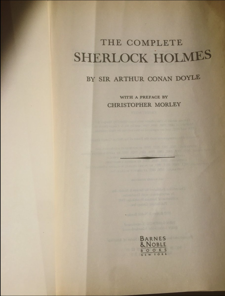 My #FirstNovel was also the first one I owned. My dad gave it to me for my ninth birthday and even though I didn't understand most of it I wanted to prove I could read the whole thing to him.  The Complete Sherlock Holmes: