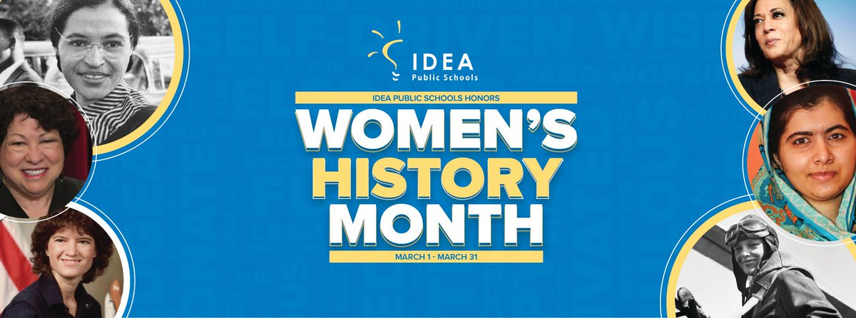 IDEA proudly honors #WomensHistoryMonth! This celebration commemorates and encourages the study, observance and celebration of the vital role of women in American history and their contributions to history, culture and society.💙💛 Read more on our blog: