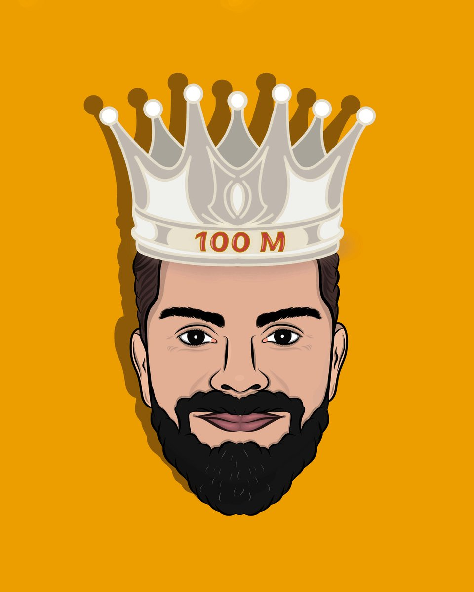 King Kohli completing 100 M on Instagram !! @imVkohli #100MillionViratiansOnInsta #ViratKohli #Instagram #TeamIndia #Virat #Cricket @ViratGang
