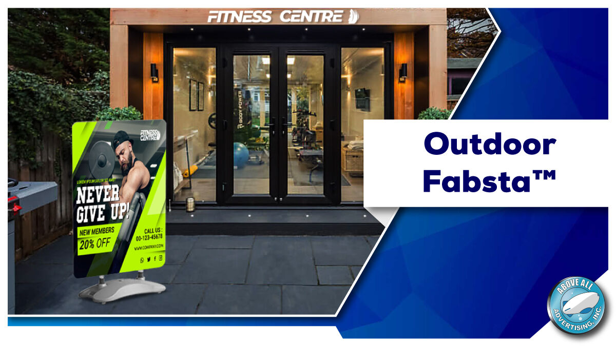 Our brand new concept in outdoor advertising - the Outdoor Fabsta™ is as easy & efficient as they get.  Get it now from   #advertising #marketing #branding #simple  #mondaythoughts #outdoor #market #businesses #advertising