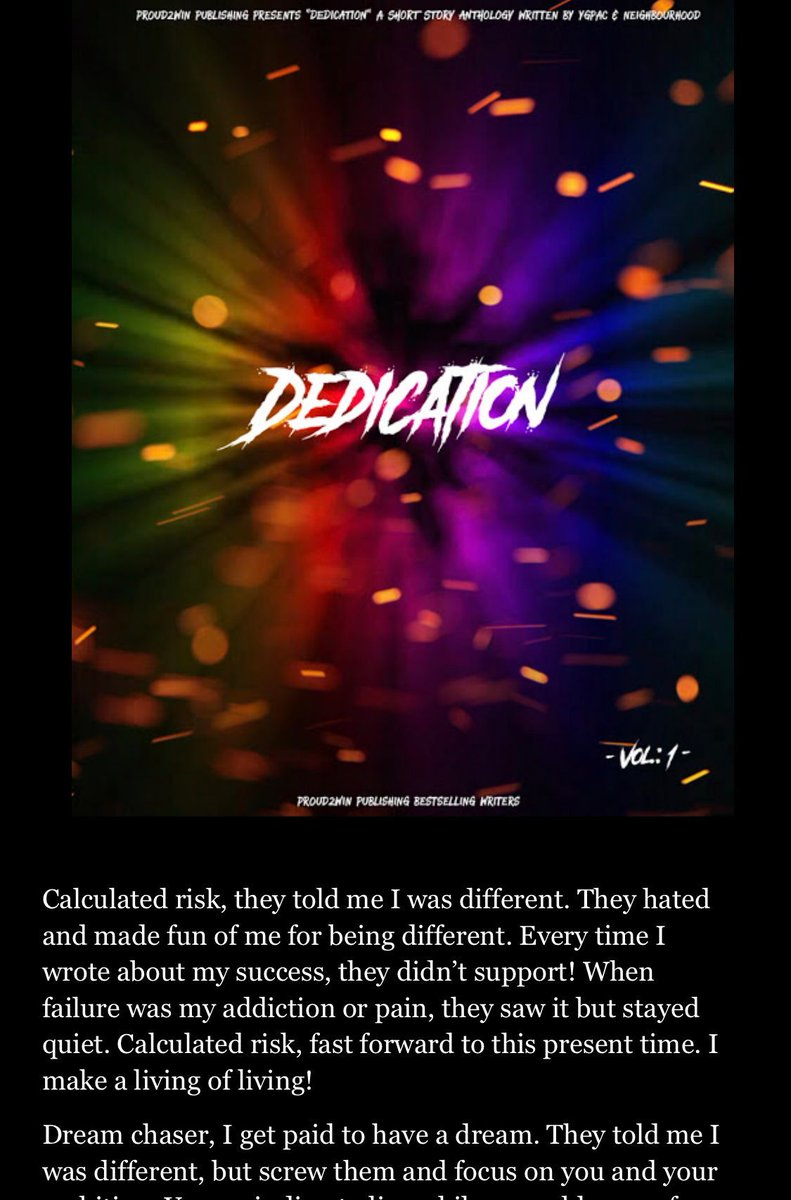 Your 🆕 great read! 📕  DEDICATION 🕯✍🏻  VIEW MORE #FREE here:   #MondayMotivation #MondayMorning #mondaythoughts #mondayinspiration #MondayVibes #IndieBooksBeSeen #Entrepreneur #amreading #WritingCommunity #successstory #succeed #successquotes #success