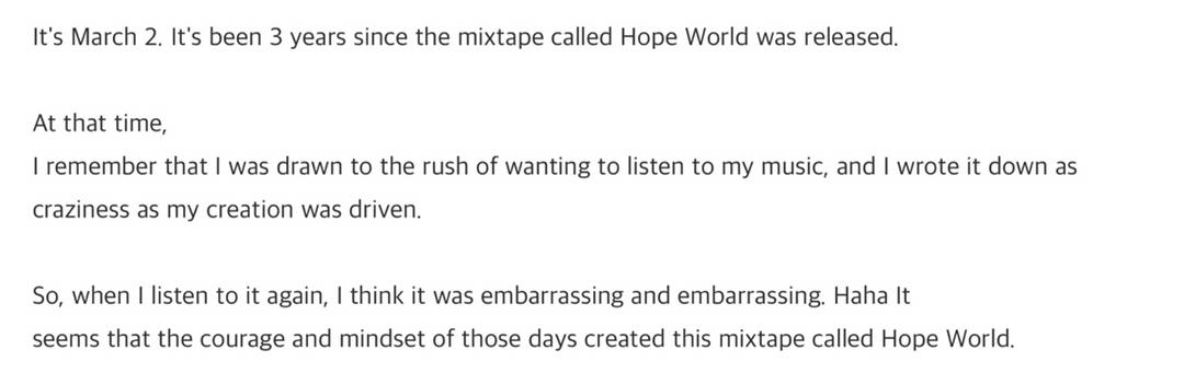 I literally wanna hug him so tight rn😭 He don't know what his voice does to me and the whole world😭I wish I could give him the whole universe 🥺He deserves every little happiness 💜My hobi Ilysm baby💜😭  #3YearsWithHopeWorld