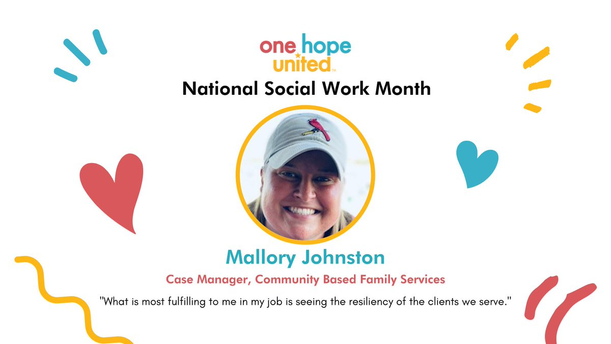test Twitter Media - March is #NationalSocialWorkMonth. All month long, we'll be introducing you to staff members, like Mallory Johnston, who engage in the field of Social Work.   #OneHopeUnited #LifeWithoutLimits #SocialWork #parenting #family #nonprofit #CCBYS #CommunityBasedFamilyServices https://t.co/goZPqEzMyb