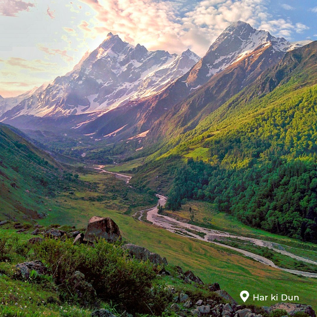 Har ki Dun is a cradle shaped valley set at a height of 3566 mts in the heart of Govind Ballabh Pant National Park. Har ki Dun Valley offers spectacular views of untouched valleys in the far off lands of Garhwal Himalayas.  #harkidun #uttarakhand