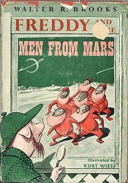"""@GailSimone #FirstNovel """"Freddie The Pig And The Men From Mars"""". Circa 4-5 y/o at NYPL -Harlem 125th St."""