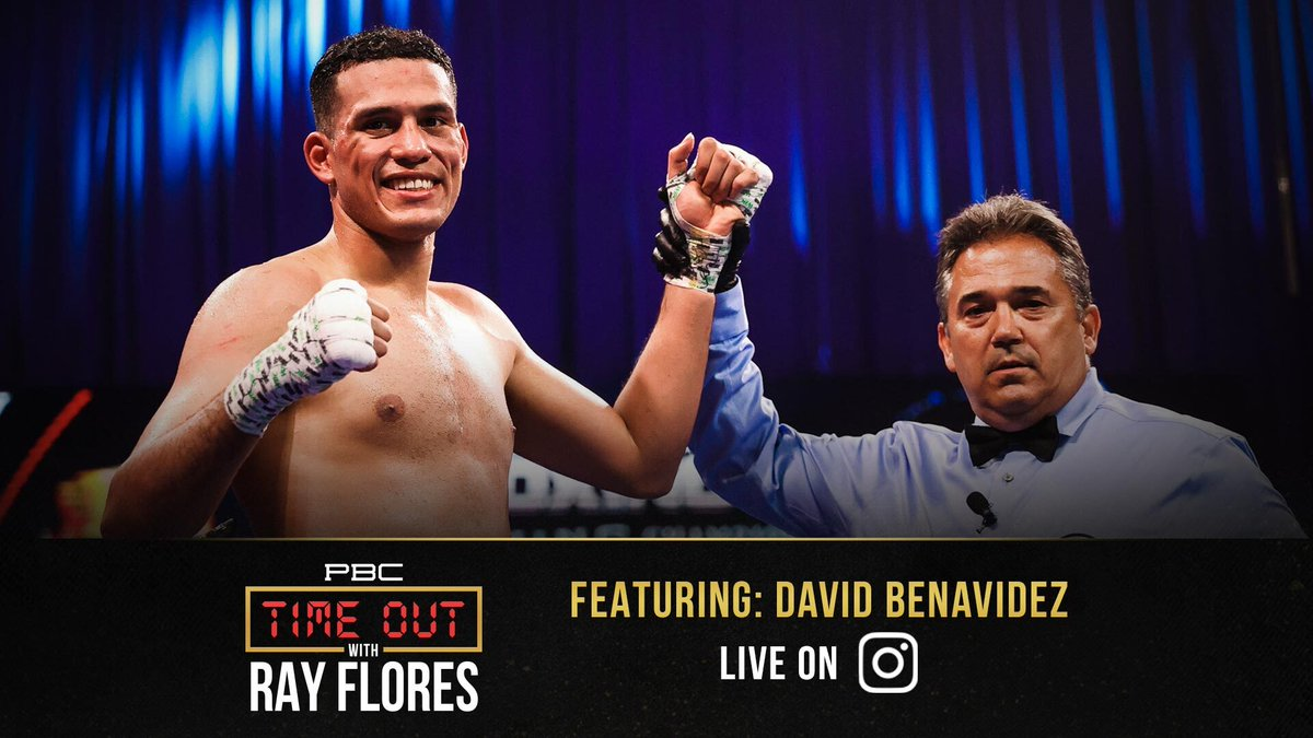 Two-Time WBC World Super Middleweight Champion @Benavidez300 joins PBC Host & Announcer @SBRFlores for today's episode of #PBCTimeOut! Tune into our Instagram page live at 7pm ET/4 PT!  #TeamBenavidez   🔗 :