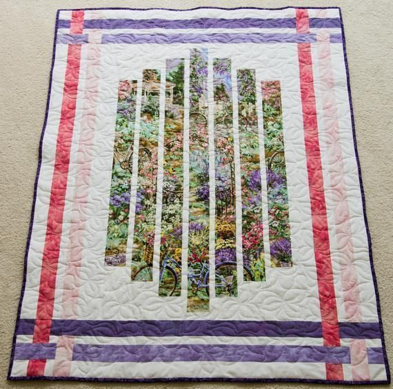 #Floral #Modern #Quilt Great# Birthday #Wedding or #Anniversary #Minky #Blanket #Quilt #birthday #Valentinesday #giftsforher #giftsformom  #freeshipping to US