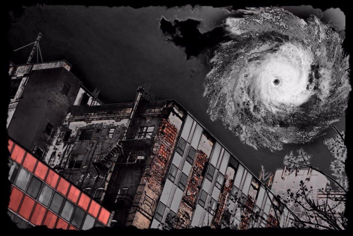 Warehouse District (The Katrina Portraits 64)   Grey Cross Studios #art #climatechange #climatechangeisreal #climateaction #ClimateChangeart #extremeweather #climatechangeaction #dystopia #hurricanes #NewOrleans