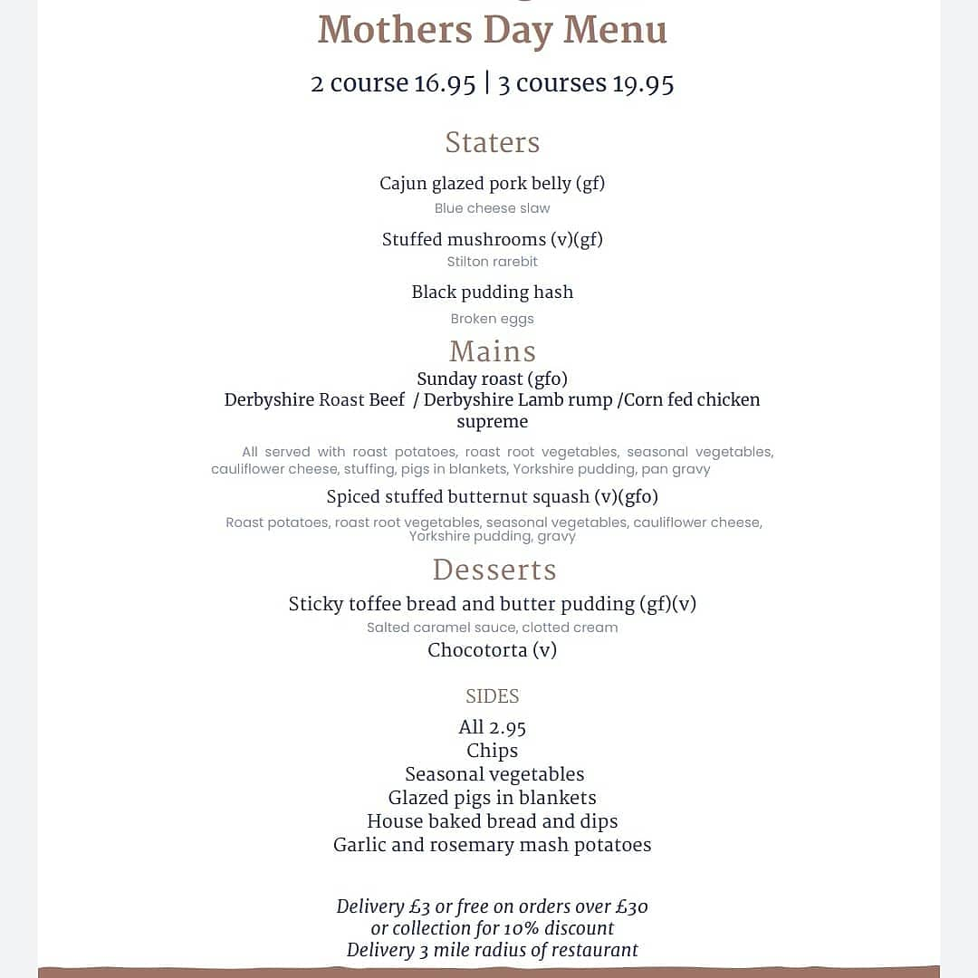 Why not treat your mum this year with our mother's day lunch.  Give us a call on 01332 613991 to place your order or email hello@thediningroom121.co.uk . #thediningroom121 #glutenfriendly #supportlocal #takeaway #lovederby #VisitDerby #roast #sundayfunday #sundaylunch #MothersDay