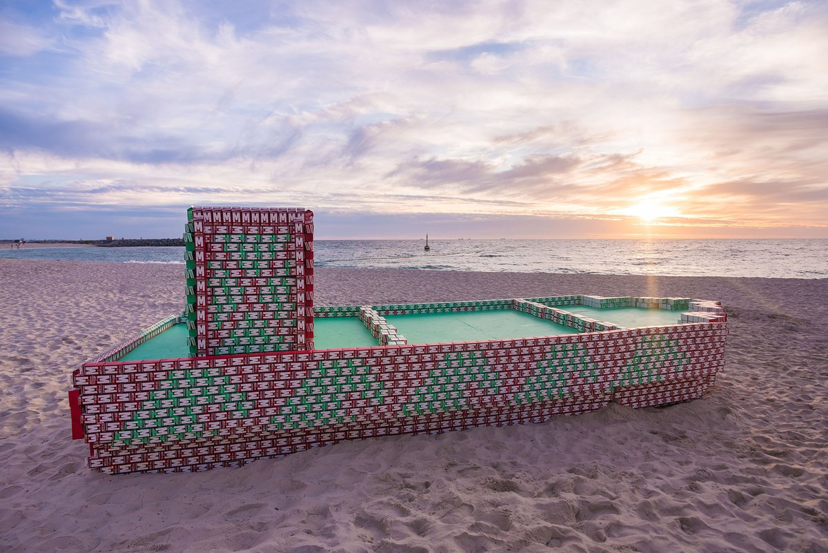 Only 3 DAYS TO GO until Cottesloe Beach in WA is transformed into a sculpture park featuring 70 sculptures from 11 countries from 5 - 22 March.  Image: Ellen Broadhurst , Tom Rogers & Jaxon Waterhouse, 'S. S. Endless Summer,' SXS Cottesloe 2020. Photo: Richard Watson https://t.co/iS60tJohoX