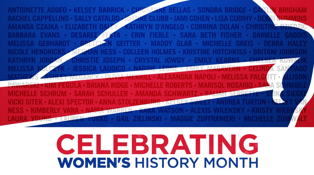 We're proud to celebrate these women of the Bills organization during #WomensHistoryMonth and all year-round!